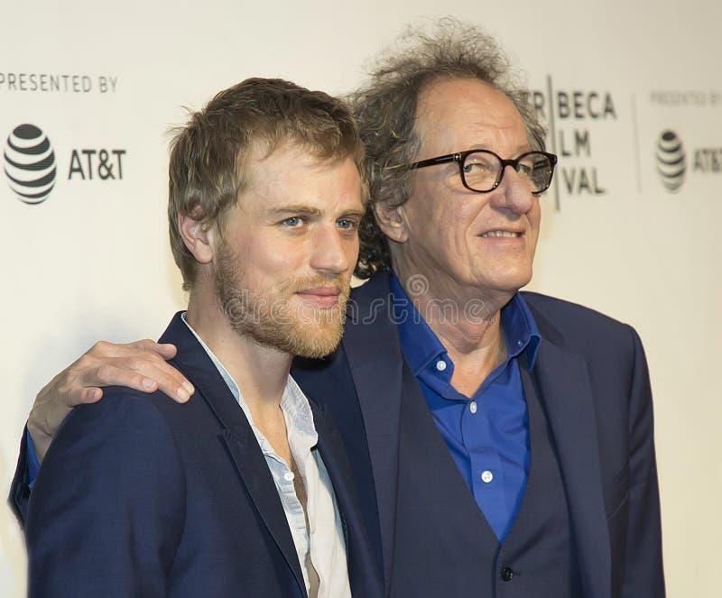 Reunión del ` Portrayors de Einstein del ` en el festival de cine de Tribeca foto de archivo libre de regalías