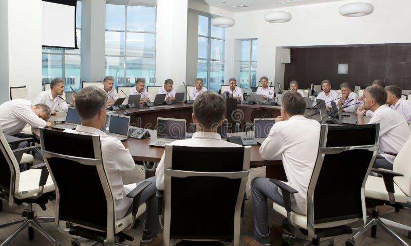Reunión e informe de la discusión Reunión de negocios, conferencia fotos de archivo