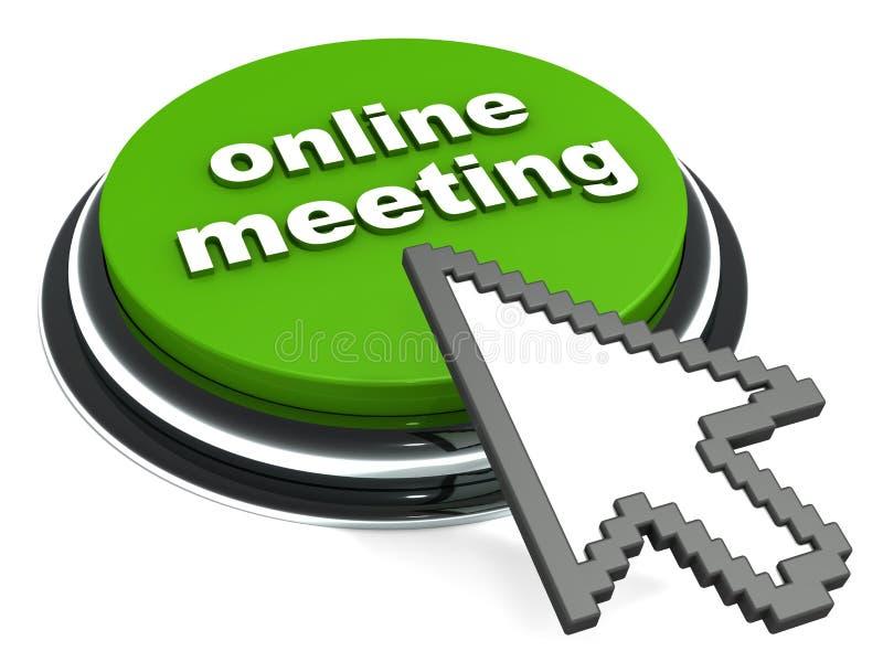 Reunión en línea ilustración del vector