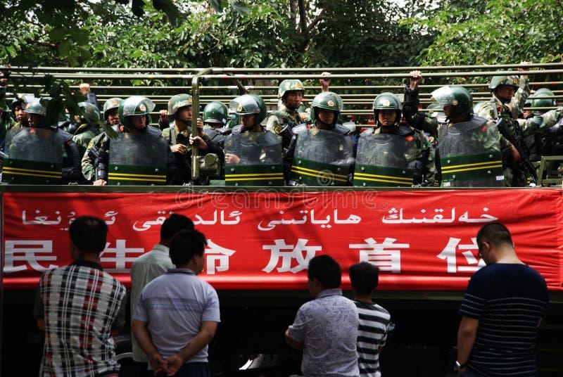 Reunión militar de Urumqi sobre Anti-terrorismo imagen de archivo libre de regalías