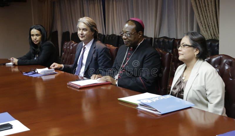 Reunión para la Creación de la Comisión para Dignificación de Adolecentes y Jóvenes tidos um direito penal fotografia de stock