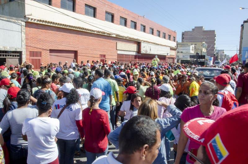 Reunión política venezolana del partido del gobierno de PSUV imagen de archivo libre de regalías