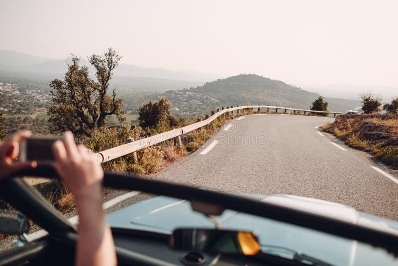 Reunión retra del coche Riviera francesa - Cannes - Saint Tropez agradables Destinación del recorrido imágenes de archivo libres de regalías