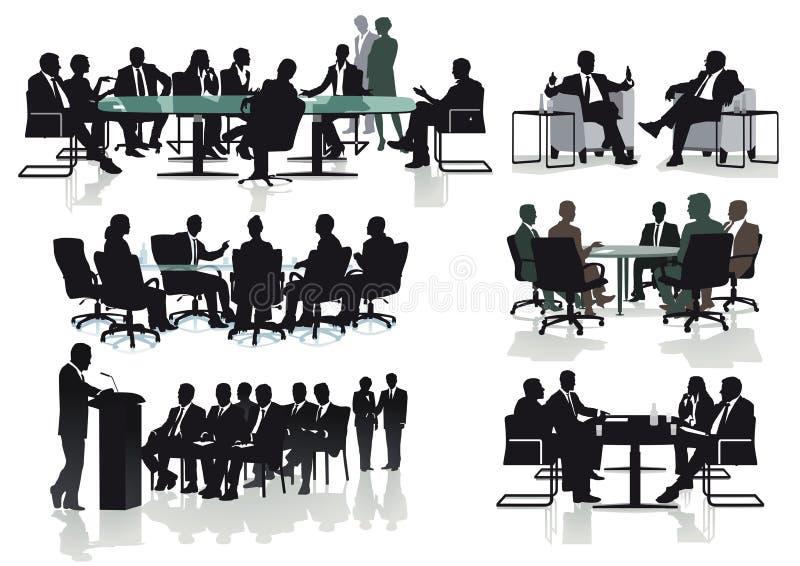 Reuniões de negócios ilustração do vetor