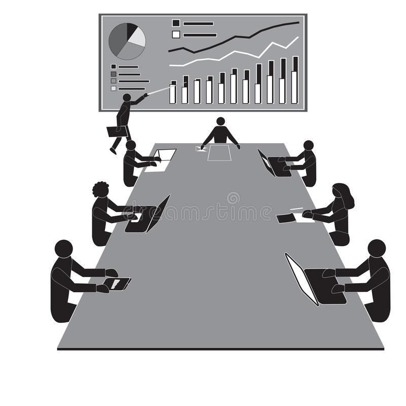 Reuni?n del taller del trabajo en equipo, equipos de los oficinistas ilustración del vector