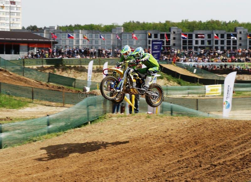 Reuni?o do motocross do side-car do enduro de Sportbike que compete a competi??o imagens de stock