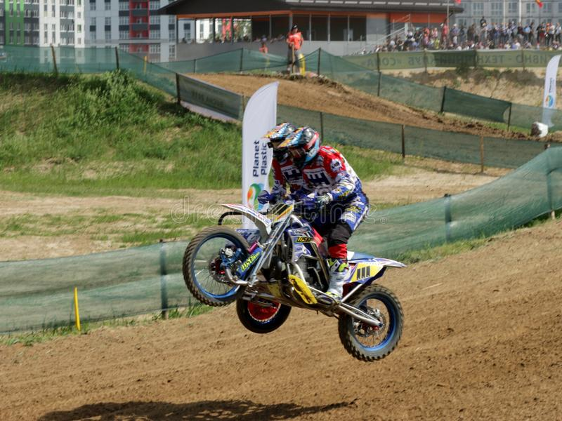 Reuni?o do motocross do side-car do enduro de Sportbike que compete a competi??o foto de stock royalty free