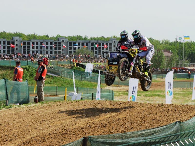 Reuni?o do motocross do side-car do enduro de Sportbike que compete a competi??o fotografia de stock royalty free