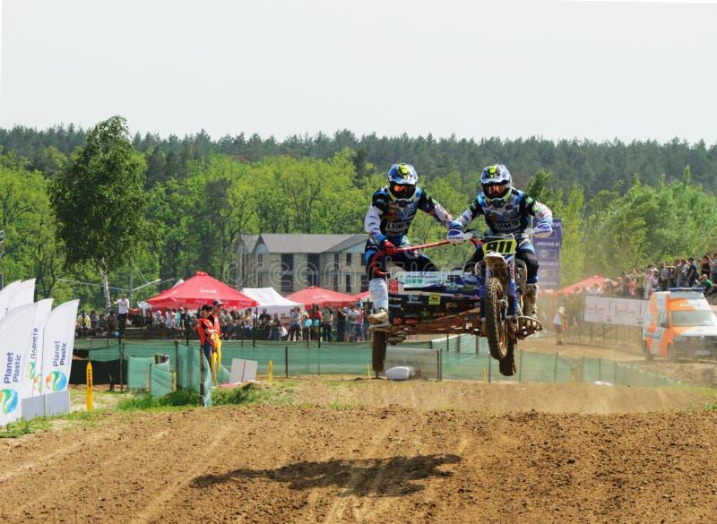 Reuni?o do motocross do side-car do enduro de Sportbike que compete a competi??o fotos de stock royalty free