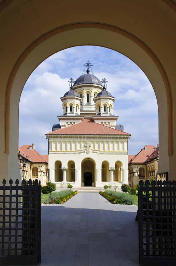 Reunification kerk in Alba Iulia, Roemenië royalty-vrije stock fotografie