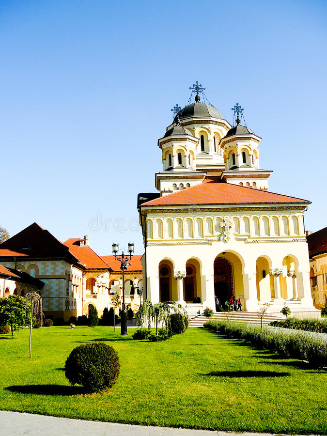 Reunification kerk in Alba Iulia, Roemenië royalty-vrije stock foto's