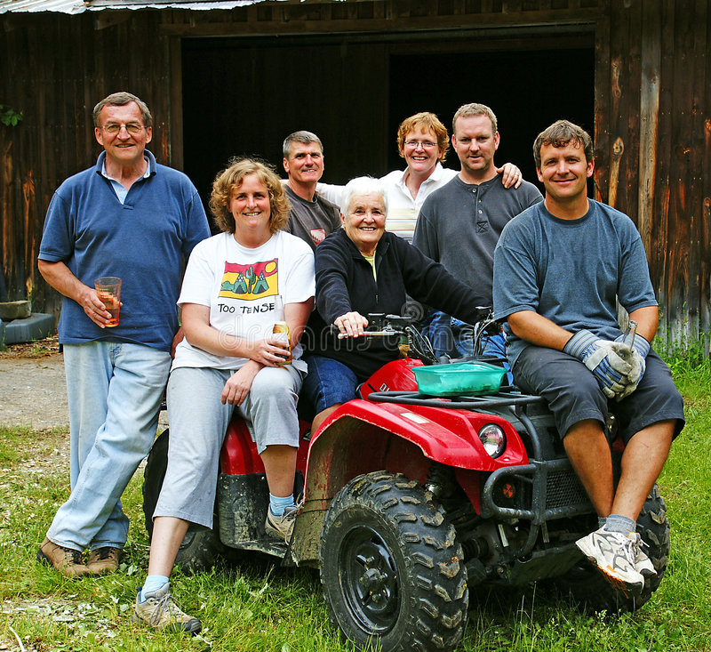 Reunion. A family reunites for a barn raising