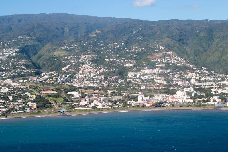Reunion Island aéreo fotos de stock