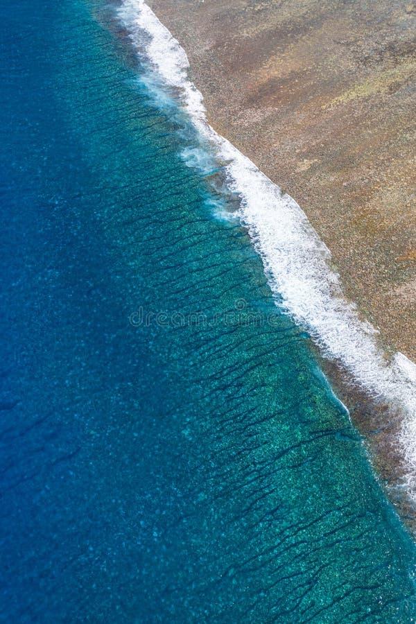 Reunion Island, laguna di Etang-Salé immagine stock libera da diritti