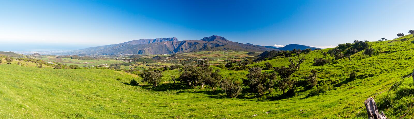 Reunion Island Landscape Stock Photo