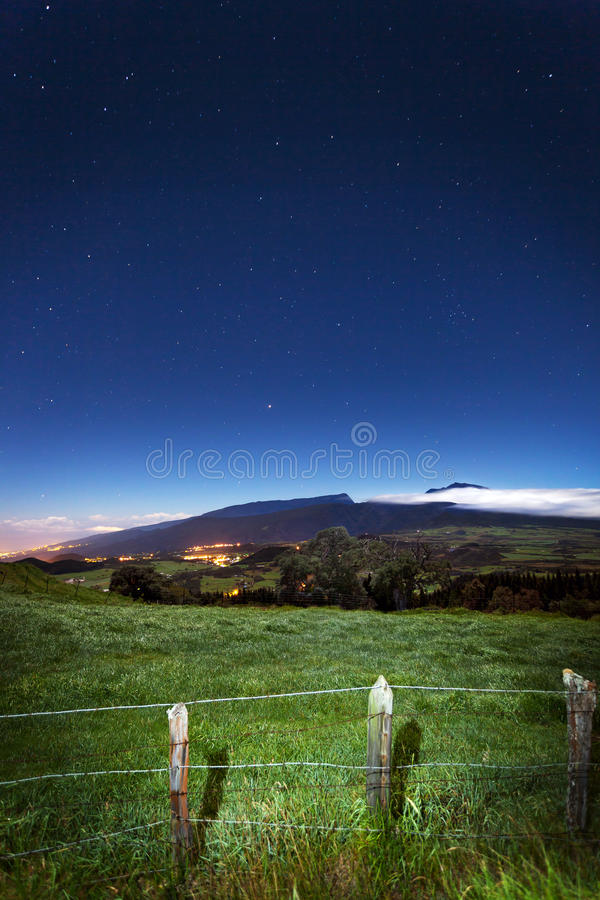 Reunion- Islandlandschaft lizenzfreies stockfoto
