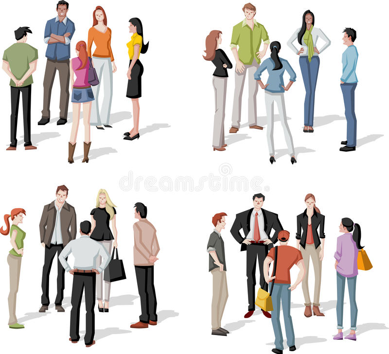 Reunion. Large group of people meeting. Reunion vector illustration
