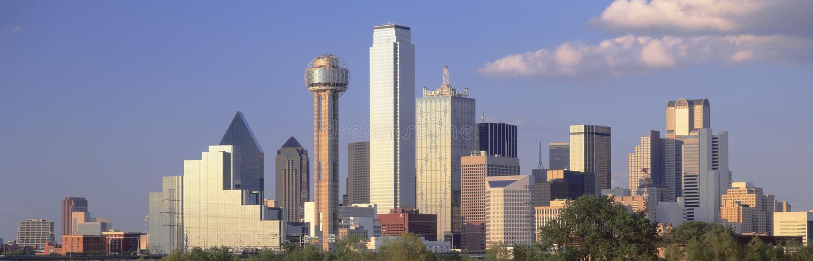 Reunion Tower. In Dallas at Sunset, Texas royalty free stock photo