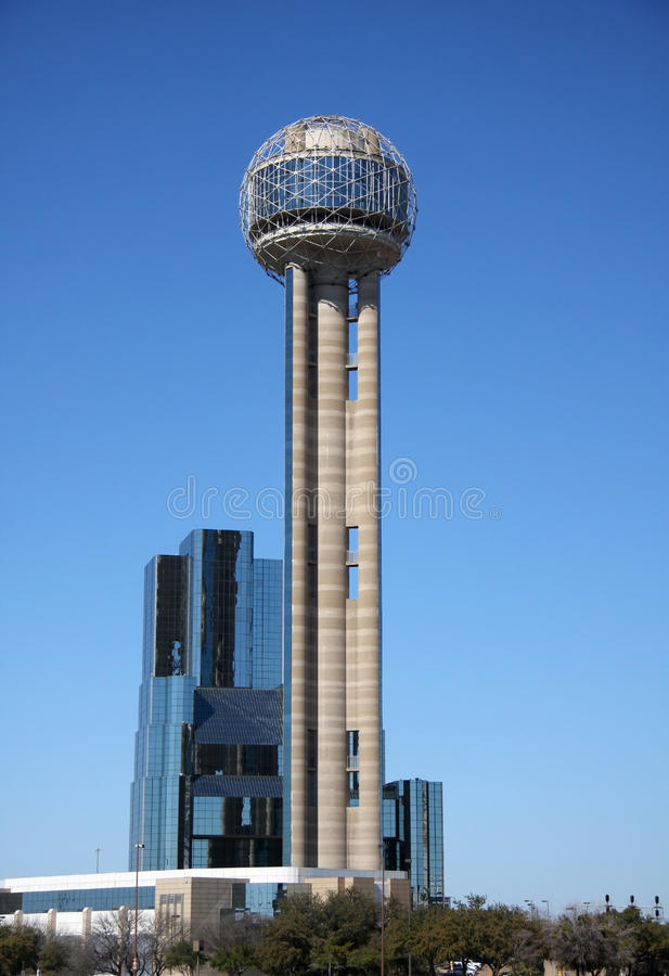 Reunion Tower in Dallas. Reunion Tower in downtown Dallas, Texas stock photo