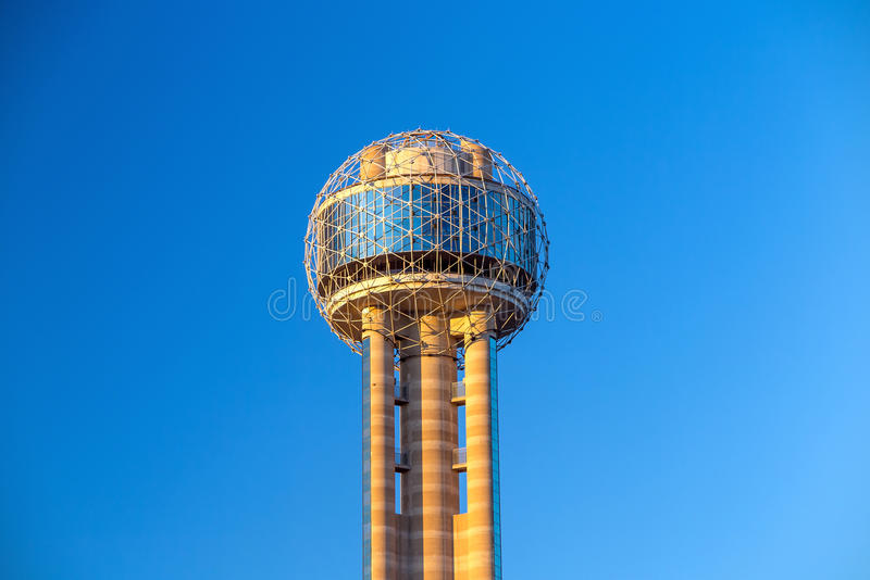 Reunion Tower in Dallas. On September 25, 2014. Reunion Tower is a 561 ft (171 m) observation tower and one of the most recognizable landmarks in Dallas stock image
