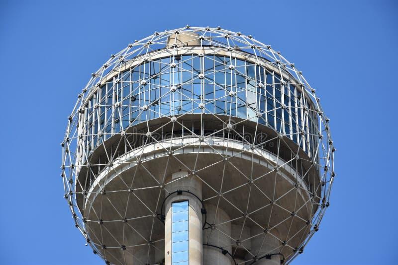 Reunion Tower in Dallas, Texas. (USA royalty free stock photos