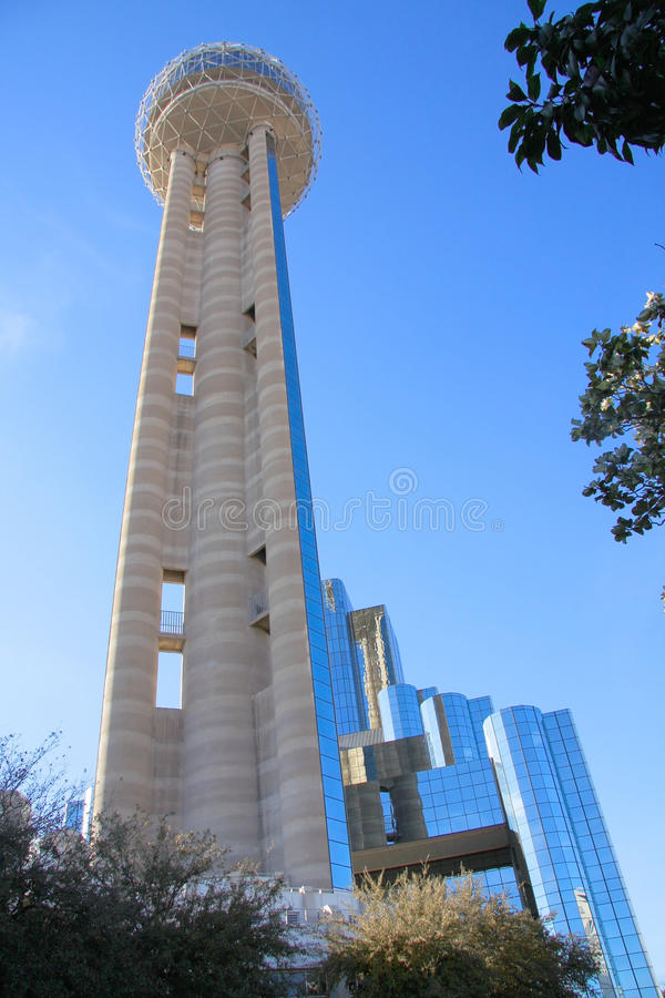Reunion Tower in downtown of Dallas. High Reunion Tower in downtown of Dallas,Texas stock photography