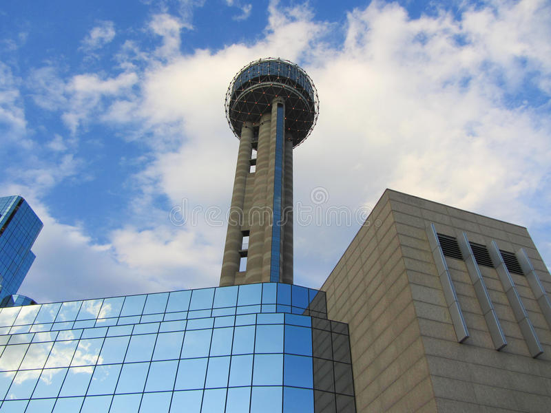 Reunion tower. In Downtown Dallas, TX stock photos