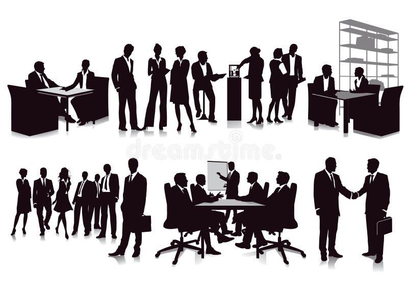 Reuniones y presentación de negocios ilustración del vector
