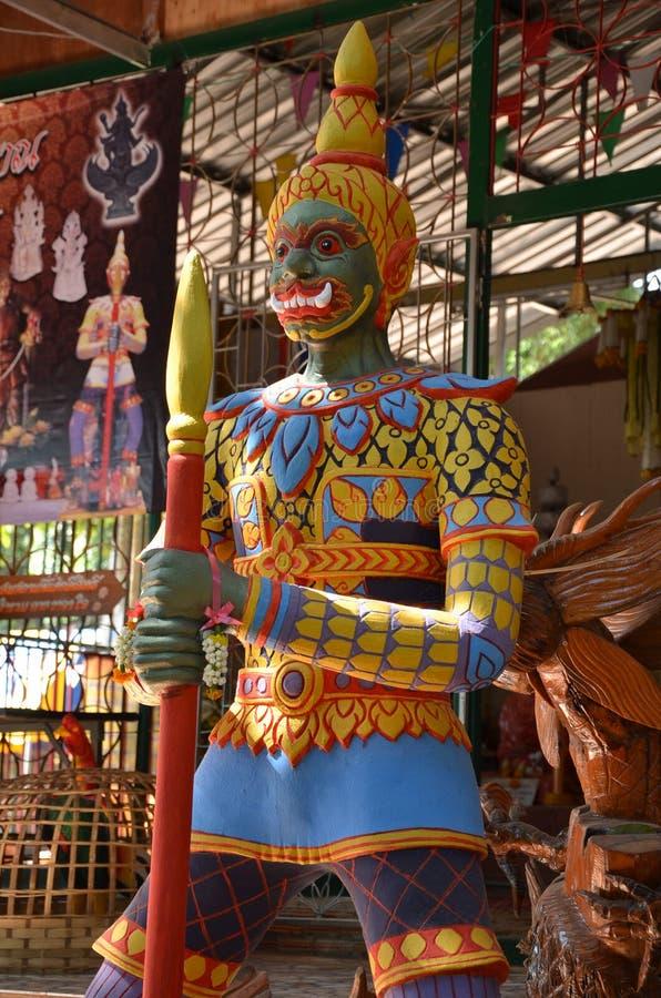 Reus in tempel van Thailand stock afbeeldingen