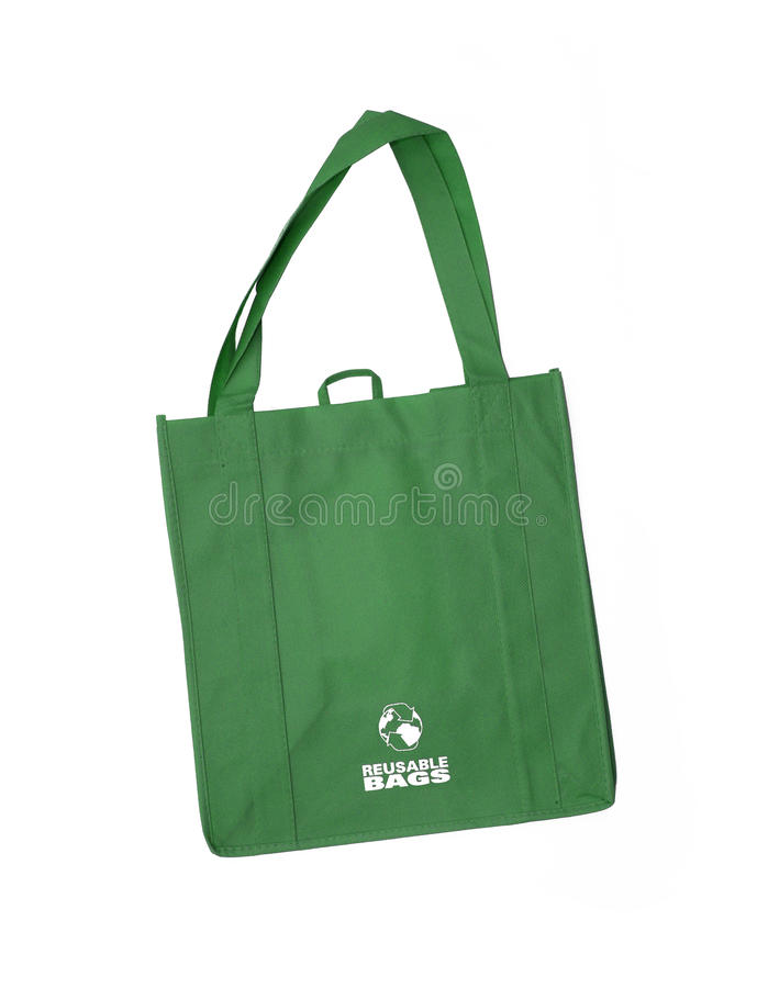 Download Reusable Green Shopping Bag With Recycle Symbol Stock Photo - Image: 27860206