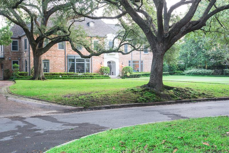 Reusachtig levend eiken boomhuis Houston, Texas, de V.S. stock foto