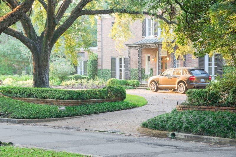 Reusachtig levend eiken boomhuis Houston, Texas, de V.S. royalty-vrije stock fotografie
