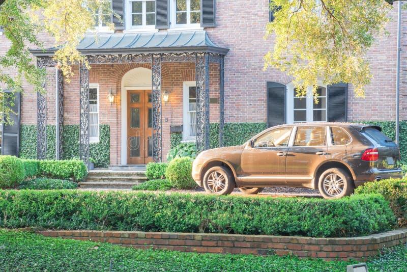Reusachtig levend eiken boomhuis Houston, Texas, de V.S. stock afbeelding