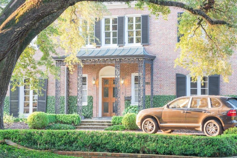 Reusachtig levend eiken boomhuis Houston, Texas, de V.S. royalty-vrije stock afbeelding