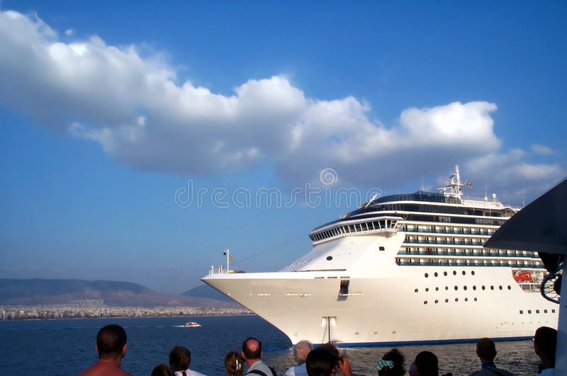 Reusachtige cruisership royalty-vrije stock foto's