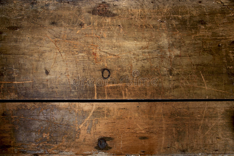 Reusachtige en een geweven oude houten grungeborst royalty-vrije stock afbeeldingen