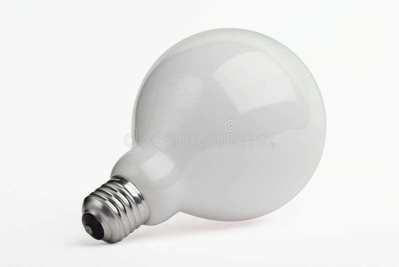 Reusachtige gloeilamp die op wit wordt geïsoleerdt royalty-vrije stock afbeelding