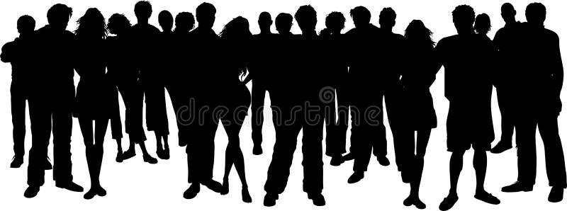 Reusachtige groep mensen royalty-vrije illustratie