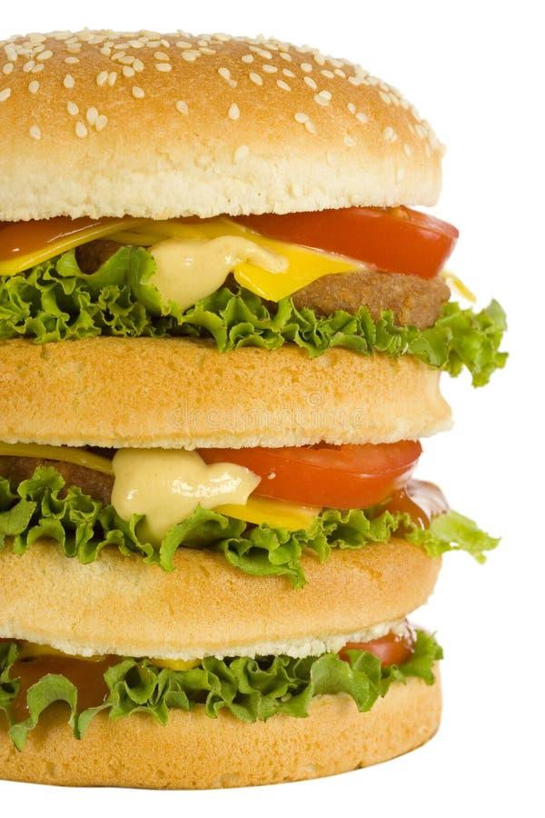 Reusachtige hamburger stock foto