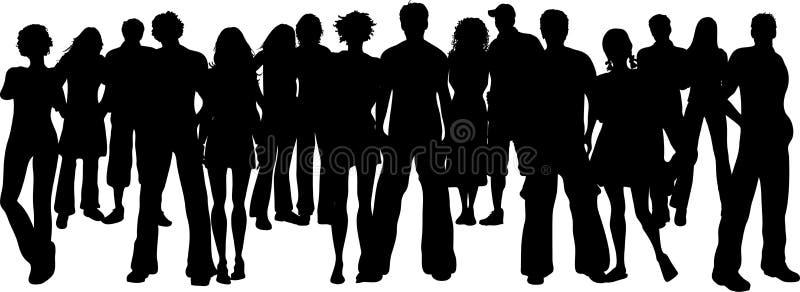 Reusachtige menigte vector illustratie