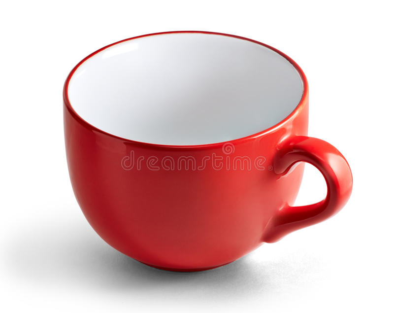 Reusachtige rode mok stock fotografie