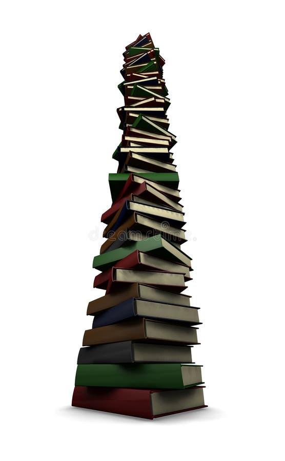 Reusachtige stapel boeken stock illustratie