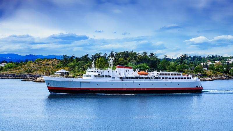 Reusachtige Veerboot die Victoria verlaten royalty-vrije stock foto