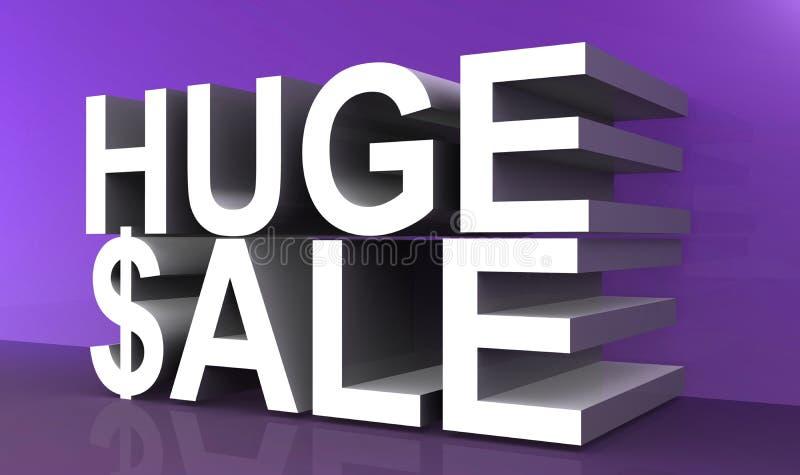 Reusachtige verkooptekst vector illustratie