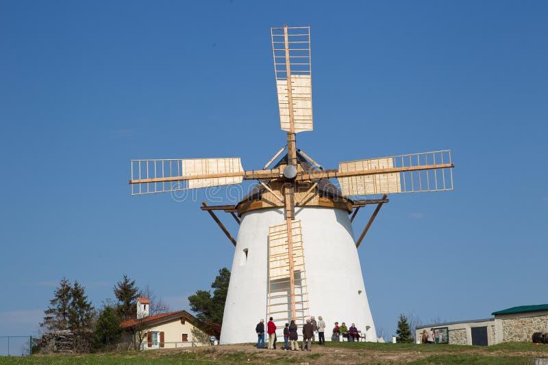 Reusachtige windmolen royalty-vrije stock afbeelding