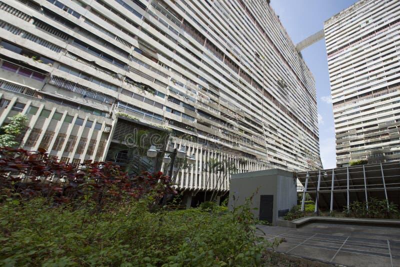 Reusachtige woningbouw binnen de stad in van Caracas royalty-vrije stock afbeeldingen