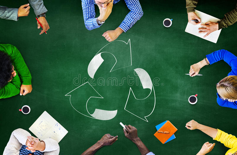 Reuse Recycle Ecology Environment Go Green Meeting Concept.  royalty free stock images