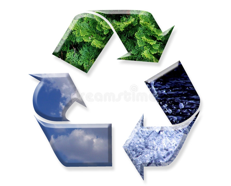 Reuse, Recycle, Reduce stock images