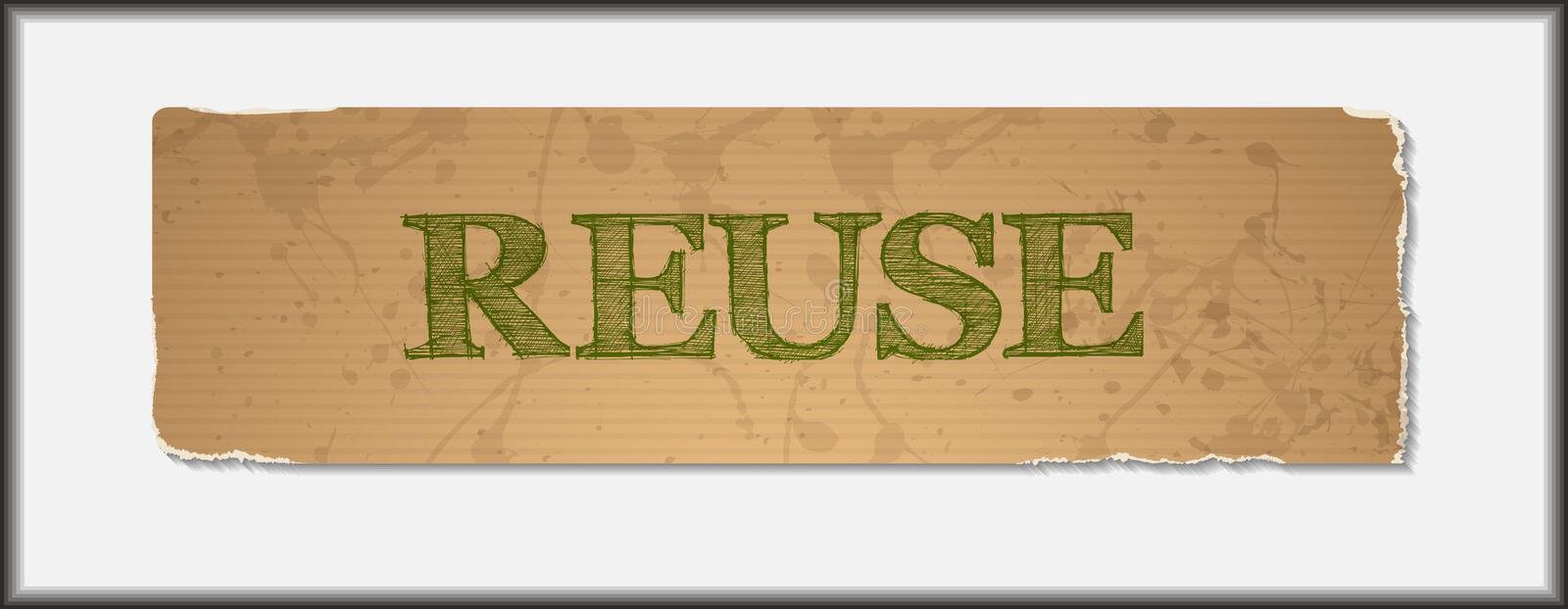 Reuse text on blank grunge recycled paper. Texture.Save the world concept.Vector file vector illustration