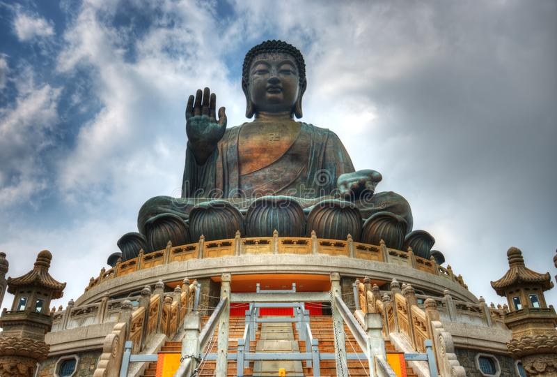 Reuze Boedha van Hongkong royalty-vrije stock afbeeldingen